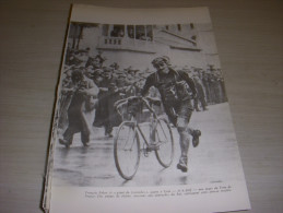 CYCLISME COUPURE LIVRE F021 TOUR De FRANCE FRANCOIS FABER GAGNE A LYON à PIED - Sport