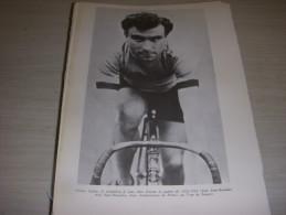 CYCLISME COUPURE LIVRE F023 OCTAVE LAPIZE LE PLUS TITRE AVANT 1914-1918 - Sport