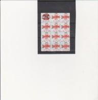 BLOC DE 12 VIGNETTES SYNDICALES - CGT- FEDERATION DU PAPIER CARTON - ANNEE 1991 - Commemorative Labels