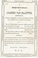RUMBEKE - Doodsprentje VAN HLEWYN Joannes - Overleden 1863 - Images Religieuses