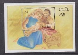Zaire 1981 Christmas M/s ** Mnh (26782AA) - Zaïre