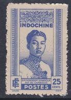 Indochine N° 226 XX  Couronnement Du Roi Sihanouk : 25 C.bleu Sans Charnière Dentelure Habituelle Sinon TB - Neufs