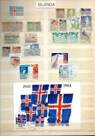 ISLANDA, ICELAND, ISLAND, ISLANDE  Old And Recent Used  & Mint Stamps - Collections, Lots & Séries