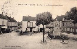 BAIGNEUX-LES-JUIFS LA PLACE ET LE MONUMENT AUX MORTS - France