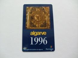 Região Turismo Do Algarve Portugal Portuguese Plastic Pocket Calendar 1996 - Calendari