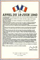 CARTE MAXIMUM - CARTE POSTALE 1er JOUR - APPEL DU 18 JUIN 1940  - TIMBRE AU DOS NON OBLITÉRÉ 0.46 EUROS / 3 .00 FRANCS - Non Classés