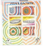 SERIE COMPLETA 6 FOGLI MONDIALE ITALIA 90  NUOVI - Copa Mundial