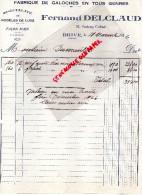 19 - BRIVE - FACTURE FERNAND DELCLAUD- FABRIQUE DE GALOCHES - CHAUSSURES-32 FG CARDINAL- 1926 - Invoices & Commercial Documents