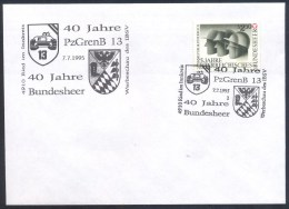 Austria Österreich 1995 Cover: Armed Forces 40 Years; Bundesheer 40 Jahre, Tank, Helmet; 25 Anniversary Stamp - Militares