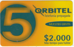 COLOMBIA - Orbitel Promotion Prepaid Card $2000, Used - Colombia