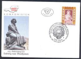 Austria Österreich 1995: Music Musik; Composer Komponist L. Van Beethoven; Wiener Beethoven Gesellschaft Sculpture - Musik