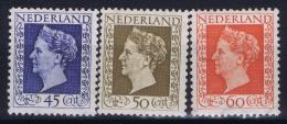 Nederland: NVPH Nr 487 - 489  MH/*  1948