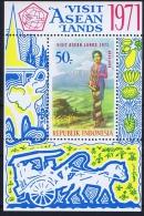 Indonesia Mi Block 17 MNH/**  1971  Tourism - Indonésie