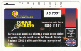 COLOMBIA(Tamura) - Codigo Secreto 1($5700), Used - Colombia
