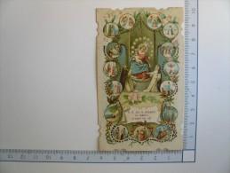 Santino Image Pieuse Holy Card - N. S. Del S. Rosario Di Pompei Pregate Per Noi - 1913 - Images Religieuses