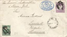 G)1892 PERU, POSTAL STATIONARY COAT OF ARMS VIOLET 20C. & STAMP 2C GREEN, OVAL BLUE CORREOS DEL PERU EMISION HABIITADA 1 - Peru