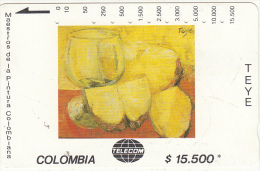 COLOMBIA(Tamura) - Pinas, Painting/Teye, Tirage 10000, Used - Colombia