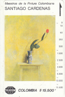 COLOMBIA(Tamura) - Tulipan Sobre Amarillo, Painting/Santiago Cardenas, Tirage 10000, Used - Colombia