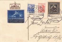 Sender Bisamberg - RAVAG Jubiläumsausstellung Im Wiener Meseepalast 1934, Sehr Seltene MIF Und Vignette - Ausstellungen
