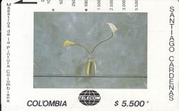COLOMBIA(Tamura) - Dos Cartuchos Sobre Verde, Painting/Santiago Cardenas, Tirage 20000, Used - Colombia