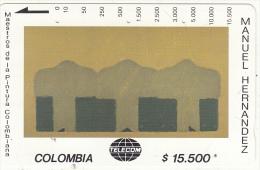 COLOMBIA(Tamura) - Secuencia Alineada, Painting/Manuel Hernandez, Tirage 10000, Used - Colombia