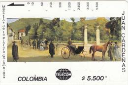 COLOMBIA(Tamura) - Parque Santander, Painting/Juan Cardenas, Tirage 20000, Used - Colombia