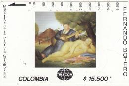 COLOMBIA(Tamura) - Concierto Campestre, Painting/Fernando Botero, Tirage 10000, Used - Colombia