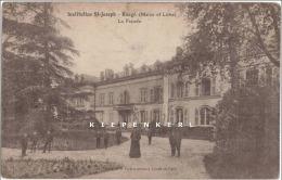 INSTITUTION ST-JOSEPH - BAUGE (MAINE ET LOIRE) 1923 LA FACADE - BELLE ANIMATION / RARE / Edit H Tourtet-M Pelitin - Other Municipalities