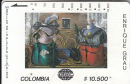 COLOMBIA(Tamura) - La Visita, Painting/Enrique Grau, Tirage 10000, Used - Colombia