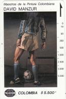 COLOMBIA(Tamura) - Futbolista Azul, Painting/David Manzur, Tirage 19000, Used - Colombia