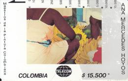 COLOMBIA(Tamura) - Bazurto, Painting/Ana Mercedes Hoyo, Tirage 10000, Used - Colombia