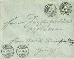 Brief  Zürich Hottingen - Briefexpedition - Wipkingen          1901 - 1882-1906 Wappen, Stehende Helvetia & UPU