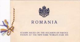ROMANIA 1939 NEW-YORK WORLD'S FAIR BOOKLET SC # 489-490 - Carnets