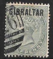 Gibraltar Scott     1 Used  Fine   CV 9.50 - Gibraltar