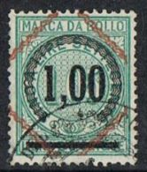 Italy Overprint On Numeral 1l On 1l05 Fine Used - Otros