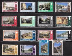 Gibraltar Scott   241-272  Missing Other Half Of Pairs Used And Mint   V Fine   CV 14.70 - Gibraltar