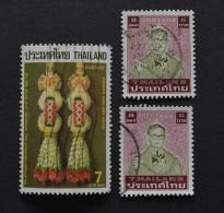 3 Timbres Oblitérés Thailande - Thailand