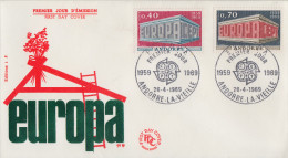 Enveloppe  1er  Jour   ANDORRE   Paire   EUROPA    1969 - FDC