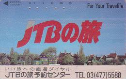 Télécarte Japon -  JTB - Paysage Ville Village - Landscape Japan Phonecard Telefonkarte - 764 - Paysages