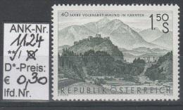"""10.10.1960 - SM """"40. Jahrestag - Volksabstimmung Kärnten""""  -  ** Postfrisch - Siehe Scan  (1124) - 1945-.... 2nd Republic"""
