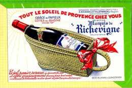 BUVARD & Blotting Paper : Cotes Du Rhone Selection Marquis De RICHEVIGNE - Liquor & Beer