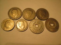 GREECE Lot Of 7 Coins 1 Drahma 1954 1959 1966 50 Lepta 1966 1959 10 Lepta 1954 1964 # 3 - Greece