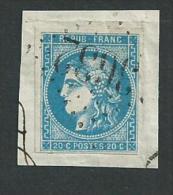 No46c Bordeaux Oblitération Gros Chiffre 3632 Saint Germain De Joux (Ain) Sur Fragment - 1870 Ausgabe Bordeaux