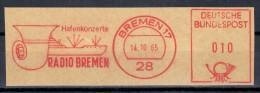 Germany Deutschland 1965 Radio Bremen, Hafenkonzerte, Musik Music Instrument Instruments Ship Ships - Sin Clasificación