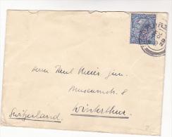 1929 GB GV 2 1/2d Stamp COVER To Switzerland - 1902-1951 (Rois)
