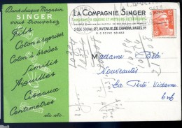 Cpa La Compagnie Singer DEC15 13 - Publicité