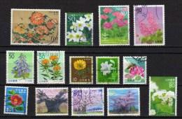 Japon - Flore - Lot 274 - Oblitérés - 1989-... Imperatore Akihito (Periodo Heisei)