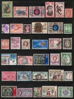 BRITISH COLONIES & TERRITORIES---LOT Of USED & UNUSED DL-80 - Stamps