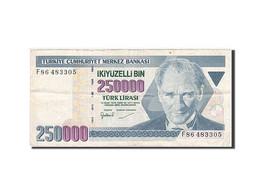 Turquie, 250,000 Lira, 1984-1997, KM:207, 1992, TTB - Turquia