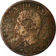 Monnaie, France, Napoleon III, Napoléon III, Centime, 1855, Lille, B, Bronze - France